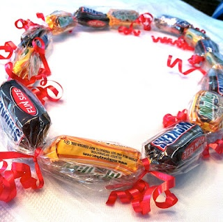 """Lolly Leis"" - quick and cute DIY candy necklaces for kids - would make great Valentine's or party favors"