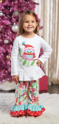 Christmas Mud Pie 2014. Her Christmas outfit. Love it, love the ruffled legs.
