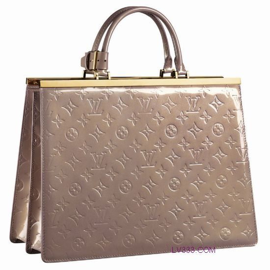 #91759 Louis Vuitton 2013 Monogram Vernis Deesse GM Beige -Beige