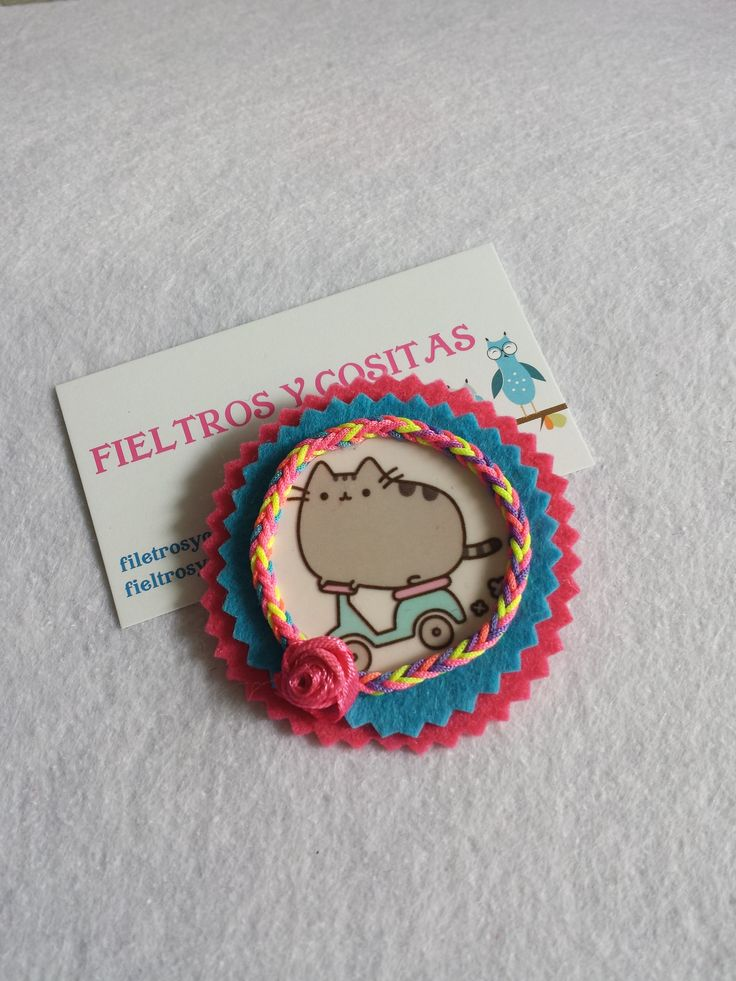 BROCHE FIELTRO PUSHEEN CAT