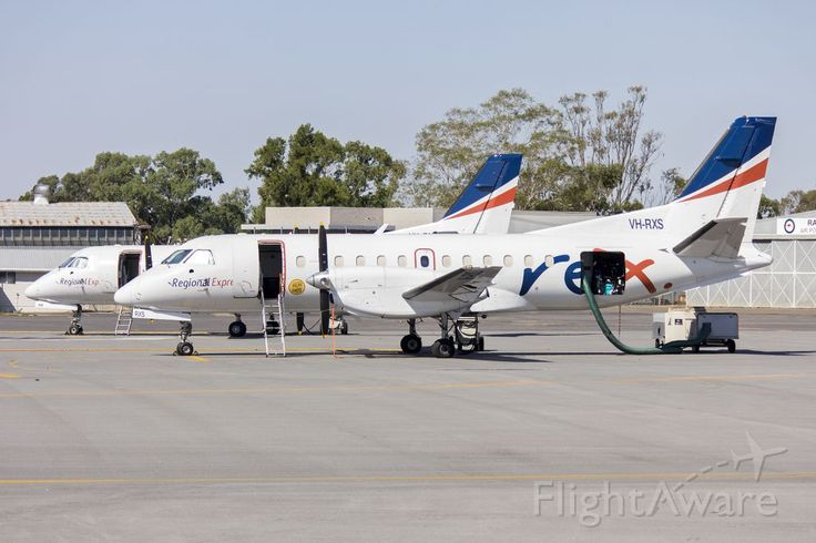 Regional Express Airlines (VH-RXS) Saab 340B on the tarmac at Wagga Wagga Airport. Photo of RXA Saab 340 (VH-RXS) ✈ FlightAware
