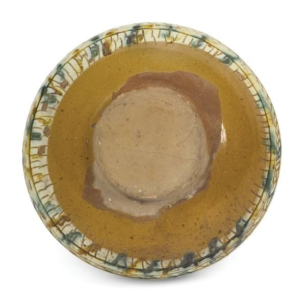 A bowl, Ferrara, late 15th century - Ceramica ingobbiata, graffita e invetriata  [...], An Important Selection of Majolica works from private collections (Genova) à Cambi Casa d'Aste
