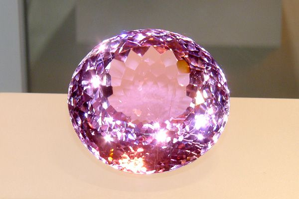 Kunzite is a pink variety of spodumene, named after U.S. mineralogist G. F. Kunz, who first described the gem in 1902.