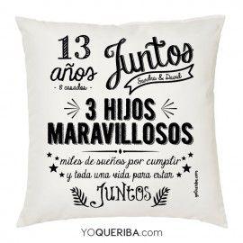 """Cojín personalizado """"Juntos"""""""