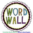 #sharethewealth #aneducatorslife Neon Bright and Black Word Wall Header