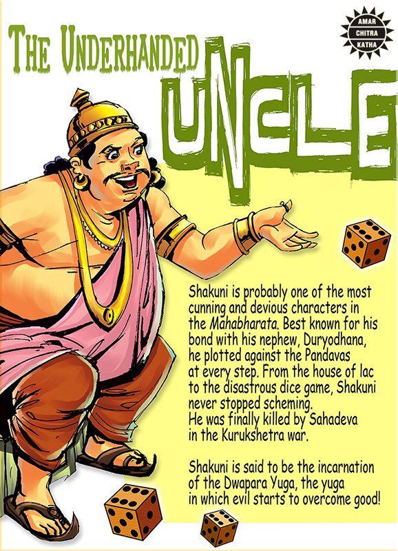 Powerful, sometimes-clever, always-fascinating villains of mythology! #VillainsofMythology #Shakuni