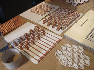 Copper tape on 3D paper structure