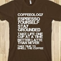 Coffeeology from Glamfoxx Shirts