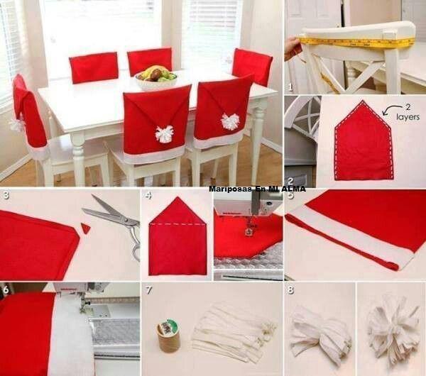 Forro para silla de Navidad   Navidad   Pinterest   Navidad