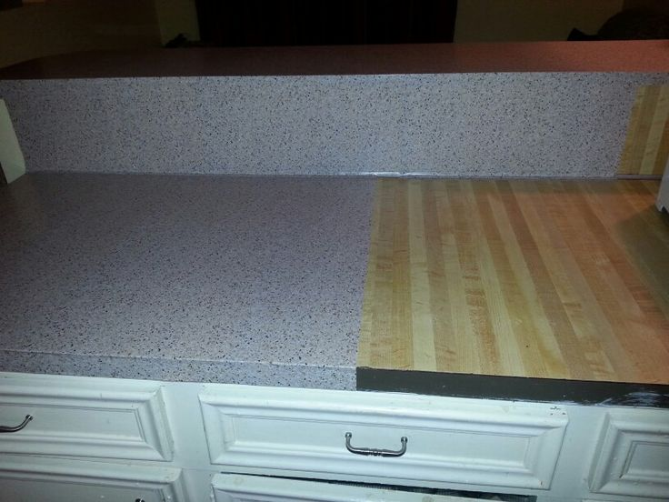 Faux Granite Contact Paper to Cover Old Ugly Countertops