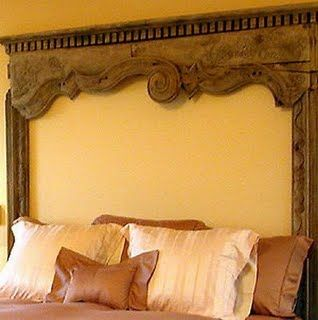 Holy cow- that mantel!!  For a bed, for a fireplace, for decoration- doesn't matter.