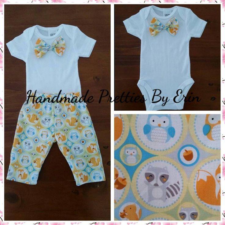 Handmade by Handmade Pretties By Erin Size 000 boys set