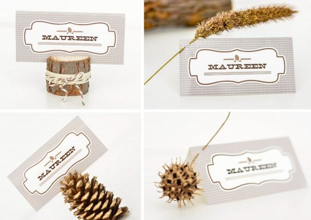 Ruff Draft Creating Fall Place Card Holders