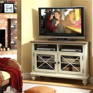 Riverside Coventry Two Tone Corner TV Console