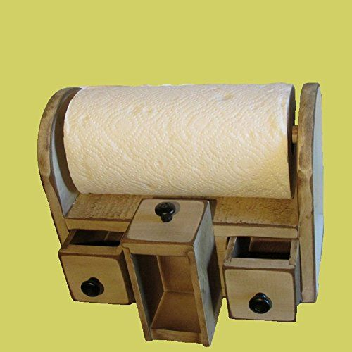 AMISH HANDCRAFTED WOODEN PAPER TOWEL HOLDER