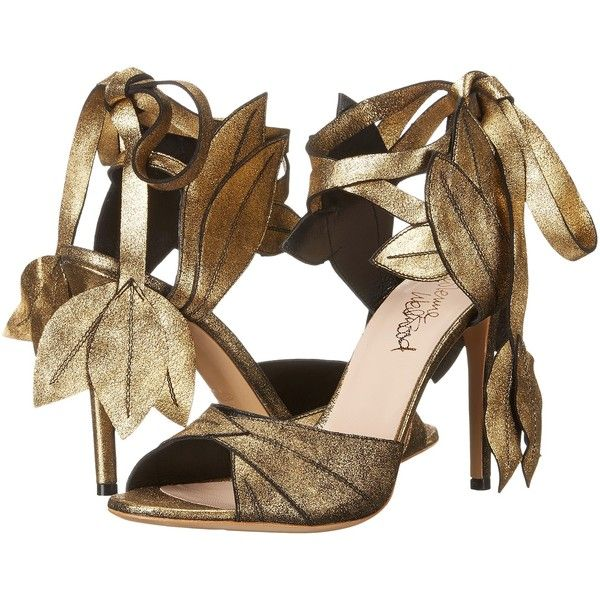 Vivienne Westwood Aphrodite Sandal (Gold) High Heels (€310) ❤ liked on Polyvore featuring shoes, sandals, gold, gold platform shoes, ankle strap high heel sandals, gold ankle strap sandals, high heel sandals and gold high heel sandals