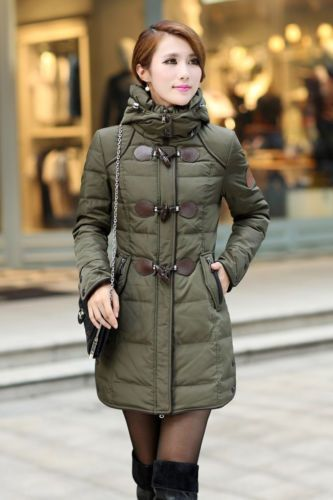 Charming Womens Winter Zip Up Coats Removable Hat Puffer Parka Toggle Jacket | eBay
