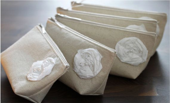 7th Bag is FREE Rustic  Bridesmaid Clutches Spring by GeauxMelange, $95.70