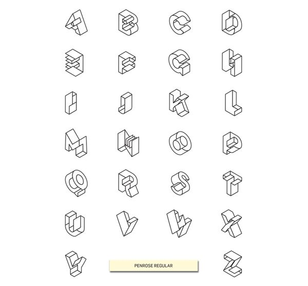Penrose Type Family by Etienne Vles, via Behance