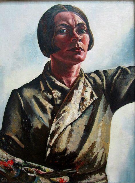 Charley Toorop, Zelfportret met palet, 1932/33, 119 x 89, Gemeentemuseum, Den Haag