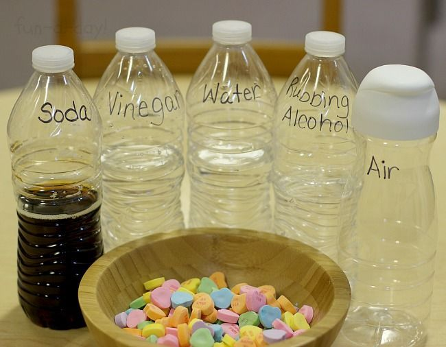 Candy Heart Experiments - what will happen when you put them in different liquids?