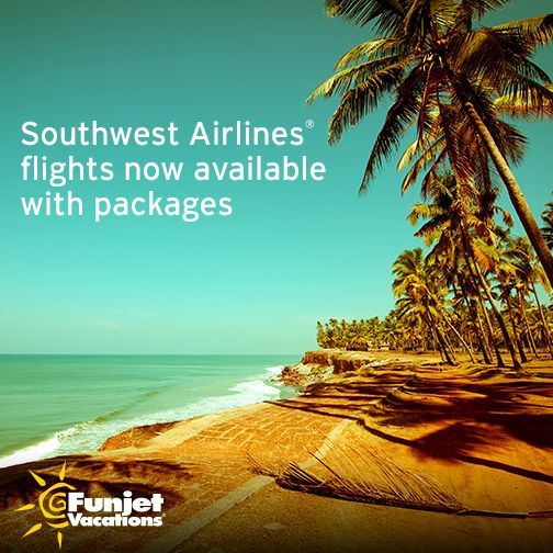 Plus, book any of the great vacation deals to Mexico or the Caribbean below and save because bags fly free ®† with Southwest Vacations. Even golf bags fly free ®. Cancun, Montego Bay, Jamaica, and Punta Cana are just a few of the beautiful destinations waiting for you, and each is home to popular all-inclusive resorts.