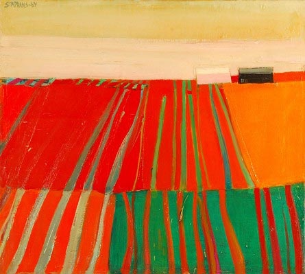 raimonds staprans - I've always love the patterns fields make...this is a gorgeous painting representing that!