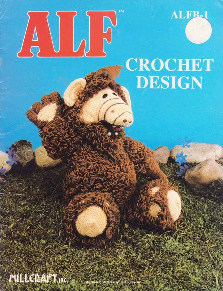 Alf Doll Crochet Pattern Book First Printing Toy Alien Millcraft Rare - Dolls & Toys