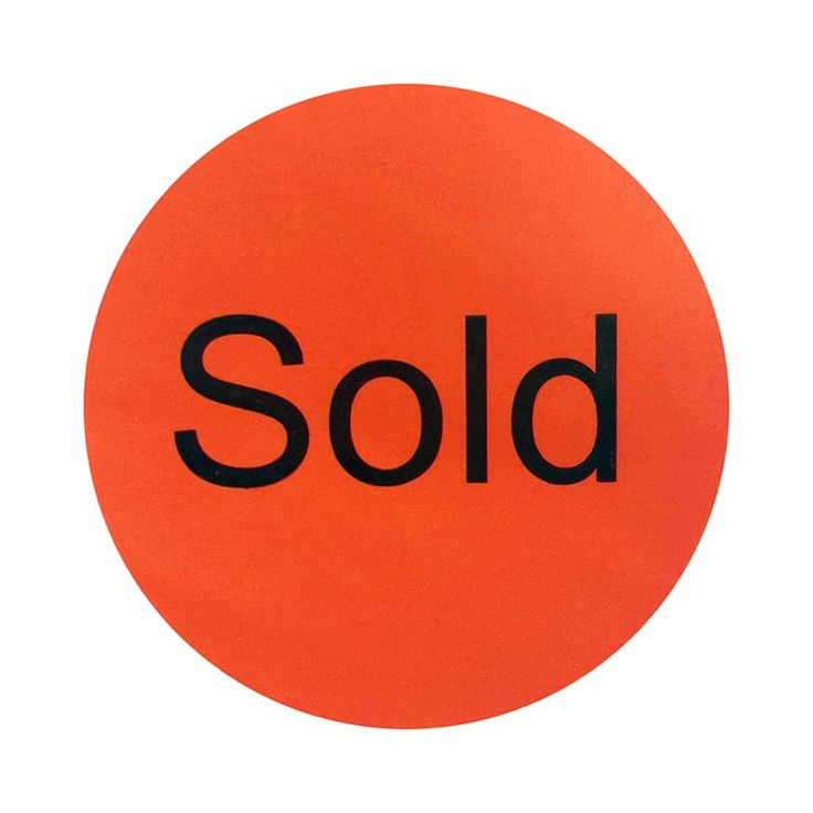 "Self-adhesive promotional Sticker labels with ""Sold"" black words Red Stickers Labels Retail Sold promotional label  #Affiliate"