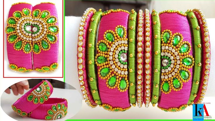 Making of Designer Bridal Silk Thread Bangles sets || Making Silk Thread...