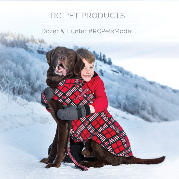 Meet Dozer and Hunter, our cover models. Dozer is wearing the new Red Tartan Whistler Winterwear fleece coat.