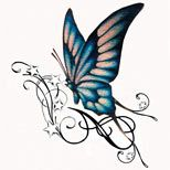 butterfly+and+swirls+tattoos | 60 Butterfly Tattoos | Feminine And Tribal Butterfly Tattoo Designs