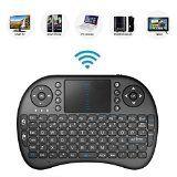 Bestdeal® 2.4GHz Mini Mobil Wireless QWERTY Tastatur mit Touchpad Maus, Li-ion Battery für Smart TV Thomson 40UB6406 & 55UA8596 & 65UB6406 & 55UB6406