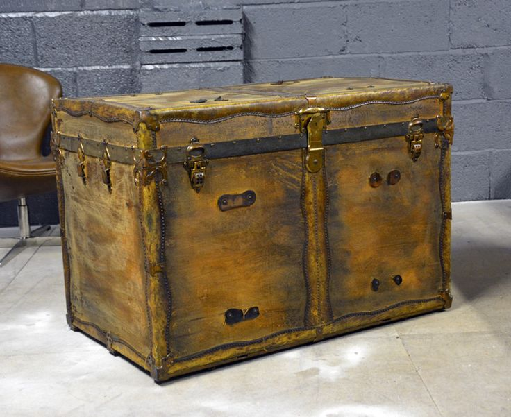 Captivating Images Of Antique Trunks | Large Antique Trunk U2013 1897 | Trunkinu0027 It! |  Pinterest | Storage Trunk, Steamer Trunk And Storage