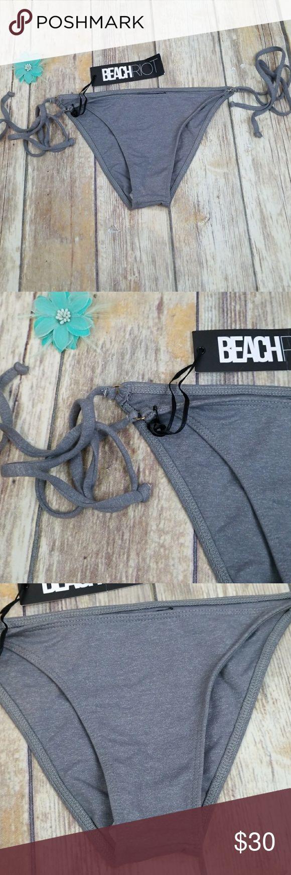 Beach riot bikini Brand new Heather grey bikini bottom Beach Riot Swim Bikinis