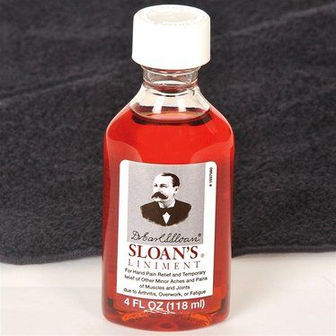 Relieve the pain of tired, aching hands with an old-time remedy - used for over a century. Sloan's® Liniment soothes other muscle pains and may even help relieve arthritis.        Contains capsaicin (the active ingredient in chili peppers) and turpentine oil      Just rub onto affected area; skin will feel warm      Also has pine oil, butylated hydroxytoluene, coparaffinate, methyl salicylate and dyes      4-fl oz.      USA made    Note:  Do not store or use near open flame.