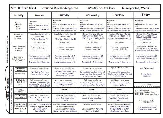 Kindergarten Calendar Math Lesson Plans : Kindergarten lesson plans week three