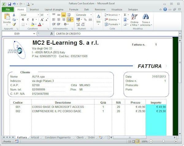 Gestiamo la fattura con Excel  Costruiamo una vera e propria applicazione per gestire la fattura con Microsoft Excel attorno ad uno dei diversi modelli fattura già disponibili.