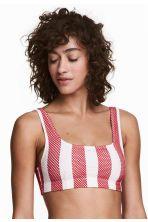 Top de bikini de diseño calado - Blanco/Rayas rojas - MUJER | H&M ES 1