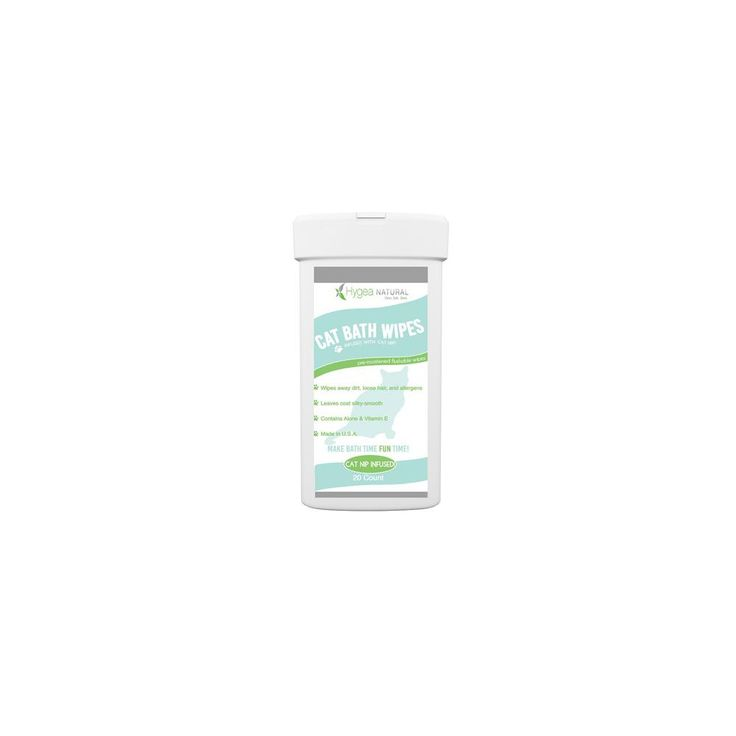Cat Bath Wipes - Catnip Infused - Pre-Moistened - Biodegradable - Natural Ingredients