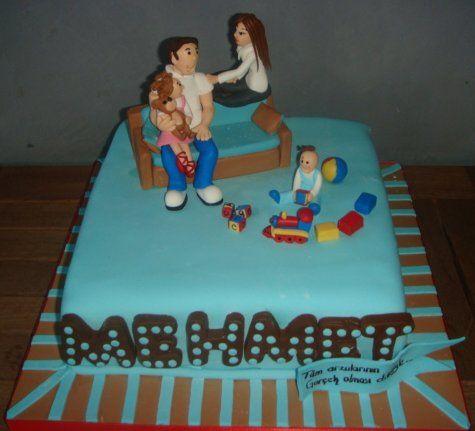 Doğum Günü Pastaları-YETİŞKİN DOĞUM GÜNÜ PASTALARI-43 AİLE BABASI