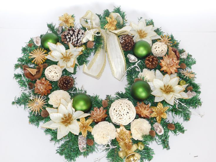 elegant Christmas door decoration
