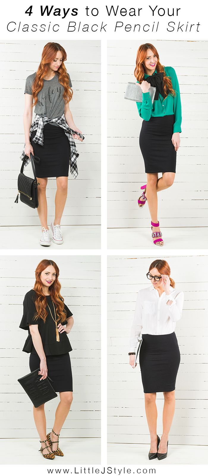 how to wear a pencil skirt with boots