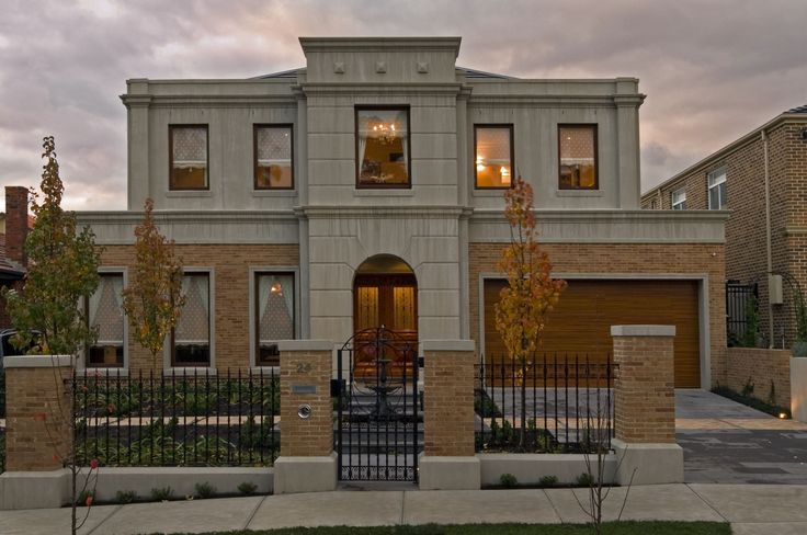 Neo Classical Home With 50mm Daniel Robertson Bricks And Toscano Roman Render.  Ravida- Property With Distinction