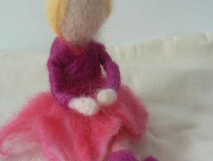 Needle Felted Ballerina Doll