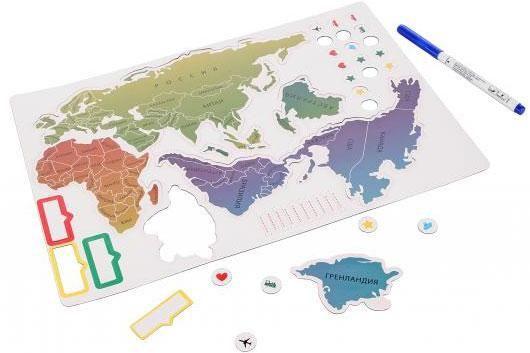 Магнитная карта мира - Magnetic map
