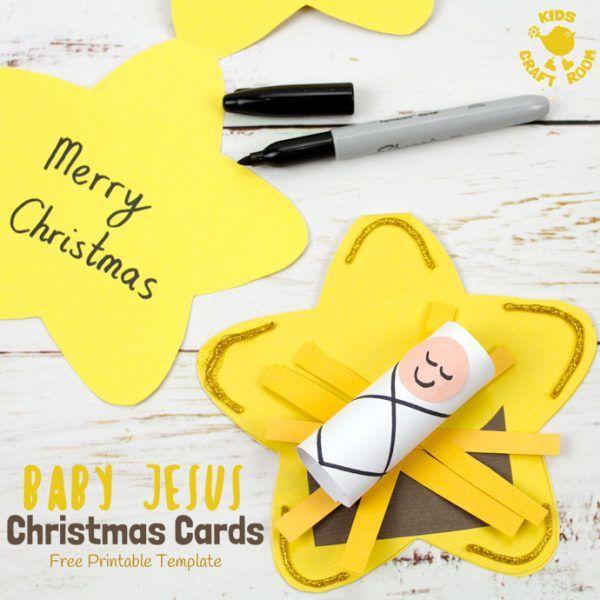 Baby Jesus Christmas Cards Christmas Card Crafts Preschool Christmas Crafts Baby Jesus Craft