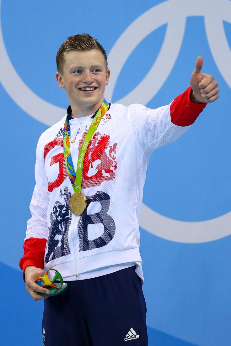 It's a thumbs up from Adam Peaty