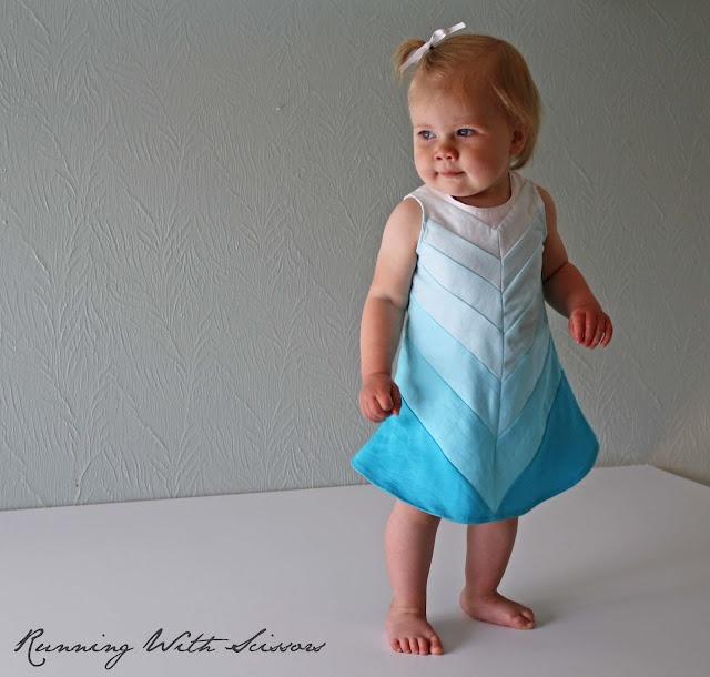 Ombre chevron dress.  So cute!!: Baby Blue, Dresses Tutorial, Chevron Dresses, Kids Dresses, Gidget Frock, Baby Dresses, Baby Clothing, Chevron Ombre, Shadow Dresses