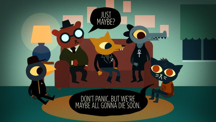 Night in the Woods art by Scott Benson Mae how should they not panic to that